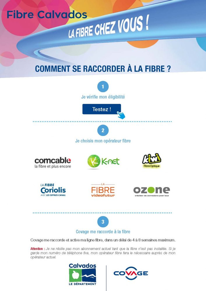 Comment se raccorder à la fibre dans le Calvados_web site