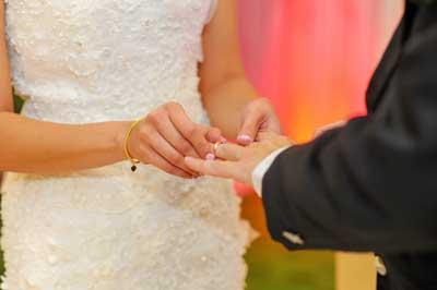 mariage échange d'alliance mairie