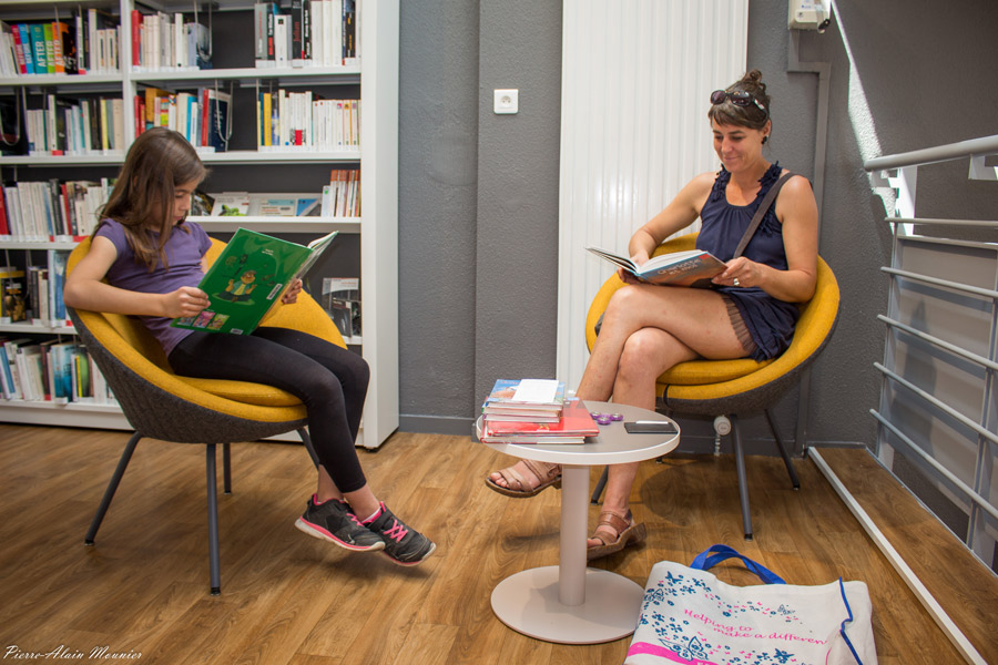 L@ bibliothèque à l'heure d'été