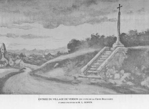 Carte postale de la Croix Beaujard à Verson
