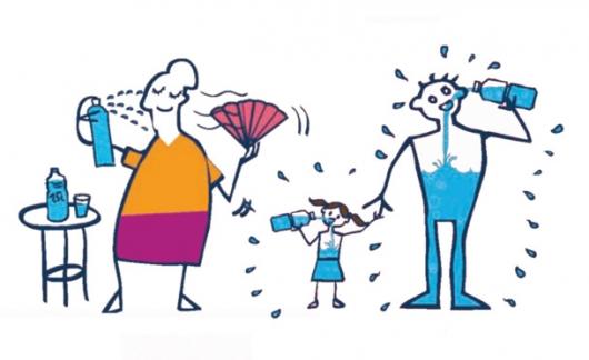 Affiche de prévention plan canicule