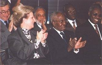 Président Senghor et son épouse