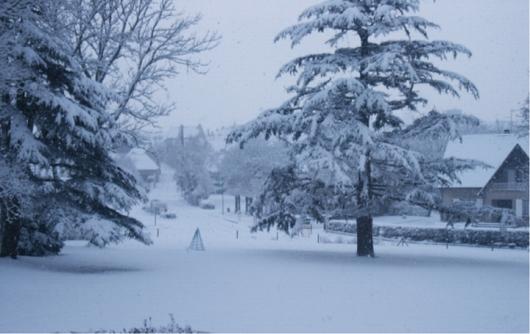 Commune de Verson sous la neige