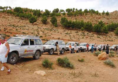 Membres du Club de l'Amitié au Maroc